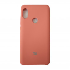 Чехол на Xiaomi Redmi Note 5 Пластиковый Soft-Touch (Розово-Оранжевый)