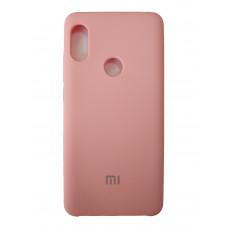 Чехол на Xiaomi Redmi Note 5 Пластиковый Soft-Touch (Розовый)