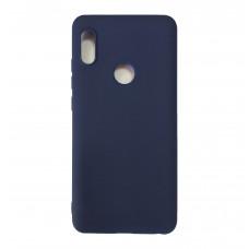 Чехол на Xiaomi Redmi Note 5 Силиконовый (Синий)