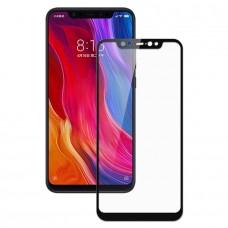 Защитное стекло с рамками для Xiaomi Mi8 (Черное/Black)