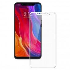 Защитное стекло с рамками для Xiaomi Mi8 (Белое/White)