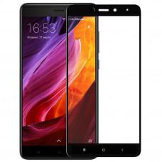 Защитное стекло с рамками для Xiaomi Redmi Note 4X (Черное/Black)