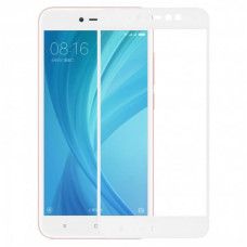 Защитное стекло с рамками для Xiaomi Redmi Note 5a Prime (Белое/White)