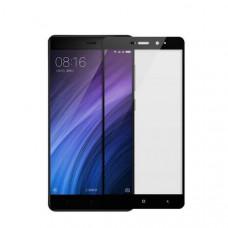 Защитное стекло с рамками для Xiaomi Redmi 4A (Черное/Black)