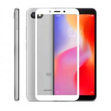 Защитное стекло с рамкой для Xiaomi Redmi 6 / Redmi 6A (Белое/White)
