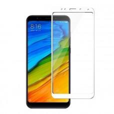 Защитное стекло с рамками для Xiaomi Redmi Note 5 / Note 5 Pro (White/Белое)